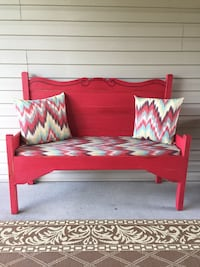 Red wooden bench Point Pleasant, 25550