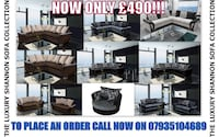 The Luxury Shannon Sofa Collection collage Batley, WF17 5TG