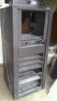 Audio video rack with Furman power conditioner