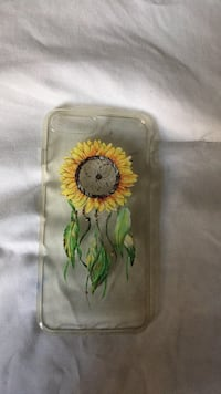 green and yellow floral print iPhone case Semmes, 36575