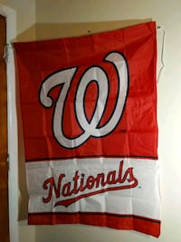 Washington Nationals banner flag wall hanging decoration team ti