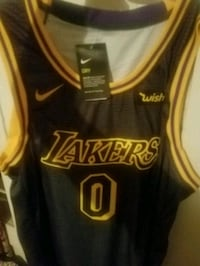 black and yellow Lakers 0 jersey top Torrance, 90504