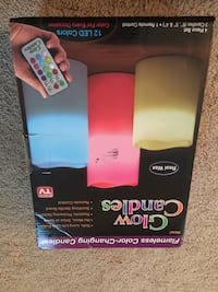 Glow candles with remote control