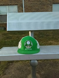 green and white Luigi snapback cap Farmington, 63640