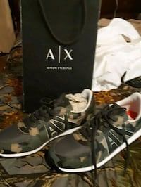 Armani exchange camo shoes size 11 Surrey, V3R 3P1