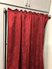 Curtain panel and rod.