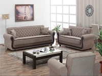 NEW 3 PCS SOFABED LIVING ROOM SET BROWN Clifton, 07013