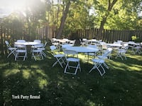 PARTY EQUIPMENT RENTALS: Chairs, Tables, Chafing dishes & more! Vaughan