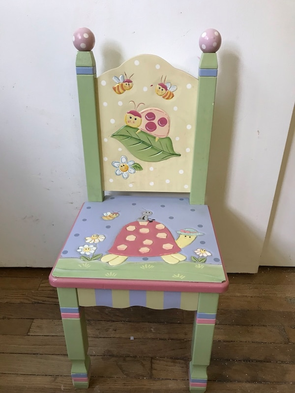 Tremendous Little Girls Hand Painted Wooden Chair Home Interior And Landscaping Oversignezvosmurscom