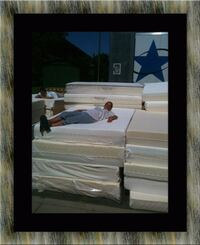 Queen soft mattress with box spring  Alexandria