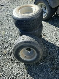 Golf cart tires excellent shape with center caps. Catlett, 20119