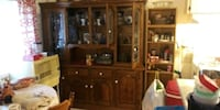 brown wooden china hutch buffet Stanton