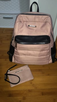 Backpack Pink and Black with matching wrist wallet New York, 11233