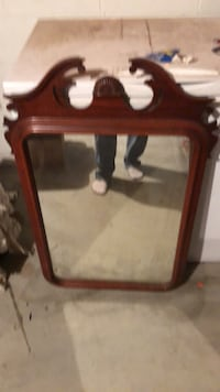 brown wooden frame wall mirror Forest Hill, 21050