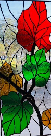 Stained glass panel (not sold) Weston, 33326