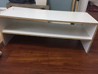 White wood table small tv stand  537 km
