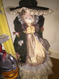 Big  frilly Doll over 3 ft tall