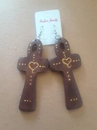two brown wooden Fashion Jewelry cross keychains Chillum, 20782