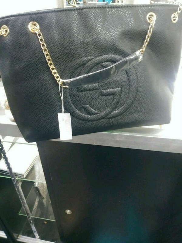 0c85ae205615 Used black leather gucci tote bag for sale in Mesquite - letgo