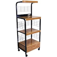 Metal Microwave Cart With 3 Outlets 帕姆代尔, 93550