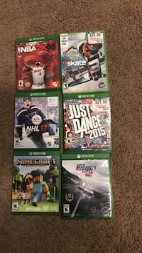 Xbox one games  Lakeside, 92040