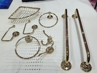 two silver towel rack and assorted handle bar items Ontario, L4H 0N1