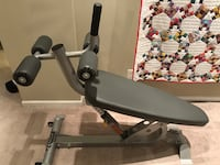 HOIST Decline Ab Bench and TITAN fitness back extension bench