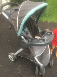 Baby's gray and teal stroller Herndon, 20171