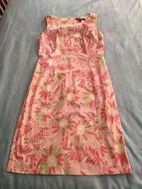 Brooks Brothers Pink Floral Cotton Dress - Size 8 Rockville