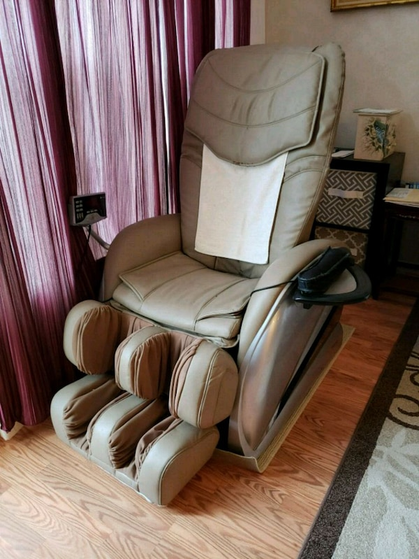 Massage chair, leather