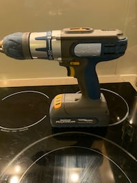 Drill Mastercraft cordless with rechargeable battery