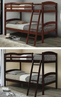 brown wooden bunk bed with mattress Pharr, 78577