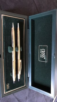 Pen and pencil set - gold plated.