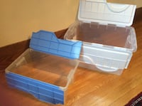 Two Plastic Storage Bins - With Lids London, N6B 2B2