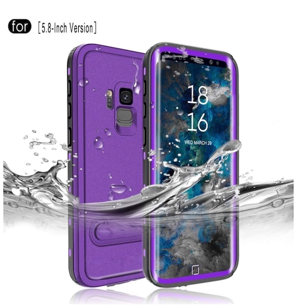 huge selection of 263b8 b0f68 Samsung Galaxy S9 Waterproof Case[5.8-Inch], IP68 Certified Full Sealed  Underwater Protective Cover, Shockproof, Snowproof, Dirtproof for Outdoor  ...