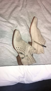 Beige Vince Camuto Booties Richmond Hill