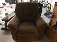 Lazy boys recliner and rocker brown polyester