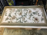 brown and white floral area rug Yorktown, 23692