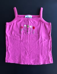 Girls Pink Camisole with Embroidery, Size 4T Montréal