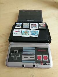 Retro Nintendo 3DS XL with collection