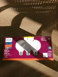 PHILIPS 5.5W LED LIGHT BULBS