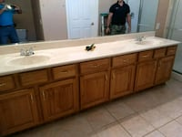 brown wooden cabinet with white ceramic sink Tucson, 85716