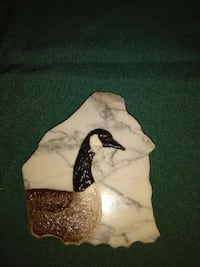 Duck on marble