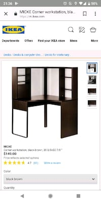 Ikea MICKE corner desk. 1 month old! Washington, 20008