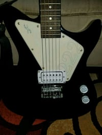 black and white electric guitar Creedmoor, 27522