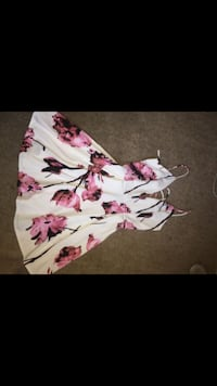 White and pink floral sleeveless dress Stockton