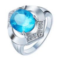 silver-colored ring with blue gemstone 23 mi