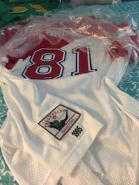 white and red NFL jersey Salinas, 93906
