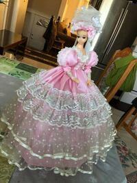 Pink and White Floral Doll