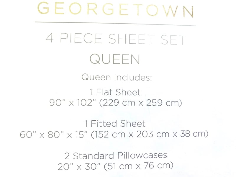 Queen Sheets 100% Cotton  4/Piece 70520bfe-be32-49b9-904b-34aa5a29ad1d